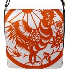 Chinese Zodiac Horoscope Zhen Icon Star Orangechicken Flap Messenger Bag (S)