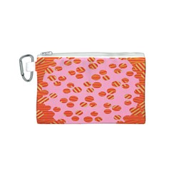 Distance Absence Sea Holes Polka Dot Line Circle Orange Chevron Wave Canvas Cosmetic Bag (S)