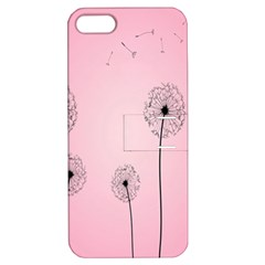 Flower Back Pink Sun Fly Apple iPhone 5 Hardshell Case with Stand