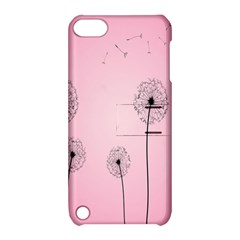 Flower Back Pink Sun Fly Apple iPod Touch 5 Hardshell Case with Stand