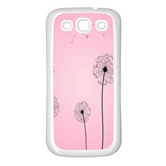 Flower Back Pink Sun Fly Samsung Galaxy S3 Back Case (white)