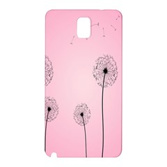 Flower Back Pink Sun Fly Samsung Galaxy Note 3 N9005 Hardshell Back Case