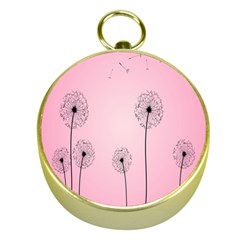 Flower Back Pink Sun Fly Gold Compasses