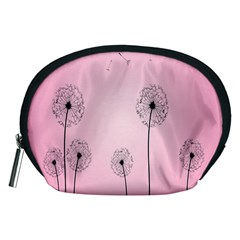 Flower Back Pink Sun Fly Accessory Pouches (Medium)