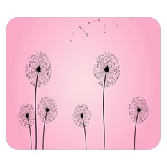 Flower Back Pink Sun Fly Double Sided Flano Blanket (Small)