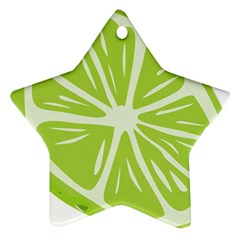 Gerald Lime Green Star Ornament (Two Sides)