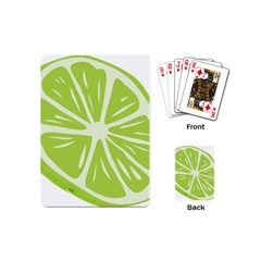 Gerald Lime Green Playing Cards (Mini)