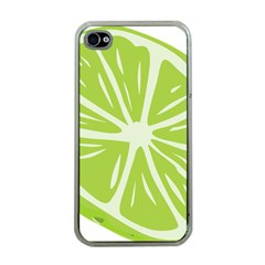 Gerald Lime Green Apple iPhone 4 Case (Clear)