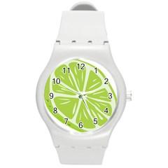 Gerald Lime Green Round Plastic Sport Watch (M)
