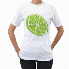 Gerald Lime Green Women s T-Shirt (White)