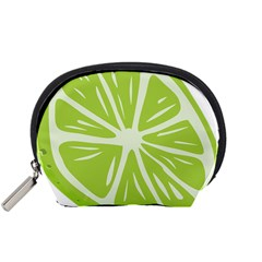 Gerald Lime Green Accessory Pouches (Small)