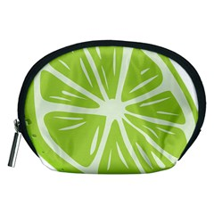 Gerald Lime Green Accessory Pouches (Medium)