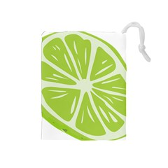 Gerald Lime Green Drawstring Pouches (Medium)