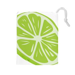 Gerald Lime Green Drawstring Pouches (Large)