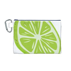 Gerald Lime Green Canvas Cosmetic Bag (M)