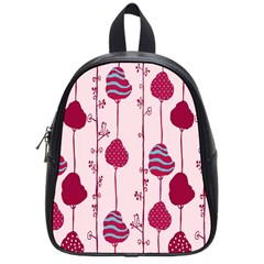 Flower Floral Mpink Frame School Bags (Small)