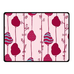 Flower Floral Mpink Frame Fleece Blanket (Small)