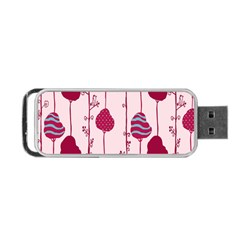 Flower Floral Mpink Frame Portable USB Flash (Two Sides)