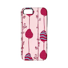 Flower Floral Mpink Frame Apple iPhone 5 Classic Hardshell Case (PC+Silicone)