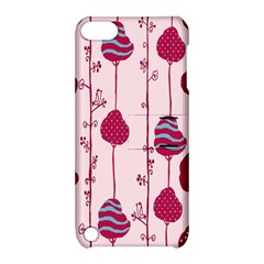 Flower Floral Mpink Frame Apple iPod Touch 5 Hardshell Case with Stand
