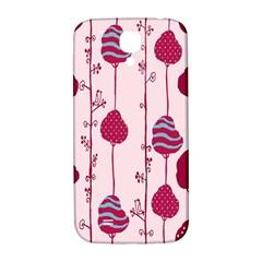 Flower Floral Mpink Frame Samsung Galaxy S4 I9500/I9505  Hardshell Back Case