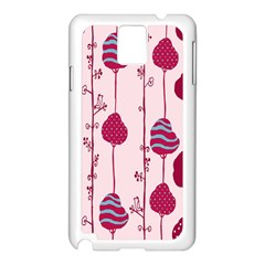 Flower Floral Mpink Frame Samsung Galaxy Note 3 N9005 Case (White)