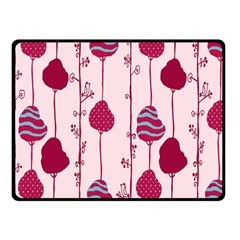 Flower Floral Mpink Frame Double Sided Fleece Blanket (Small)