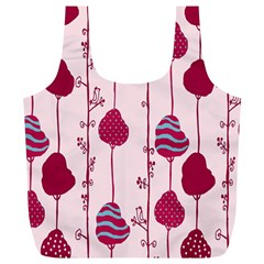 Flower Floral Mpink Frame Full Print Recycle Bags (L)