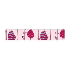 Flower Floral Mpink Frame Flano Scarf (Mini)