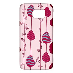 Flower Floral Mpink Frame Galaxy S6