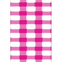 Hot Pink Brush Stroke Plaid Tech White 5.5  x 8.5  Notebooks