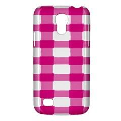 Hot Pink Brush Stroke Plaid Tech White Galaxy S4 Mini