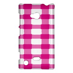 Hot Pink Brush Stroke Plaid Tech White Nokia Lumia 720