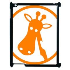 Giraffe Animals Face Orange Apple iPad 2 Case (Black)