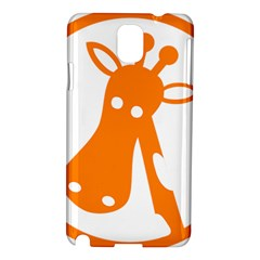 Giraffe Animals Face Orange Samsung Galaxy Note 3 N9005 Hardshell Case