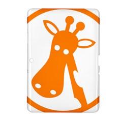 Giraffe Animals Face Orange Samsung Galaxy Tab 2 (10.1 ) P5100 Hardshell Case