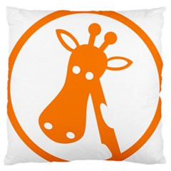 Giraffe Animals Face Orange Standard Flano Cushion Case (Two Sides)