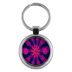 Flower Red Pink Purple Star Sunflower Key Chains (Round)