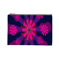 Flower Red Pink Purple Star Sunflower Cosmetic Bag (Large)