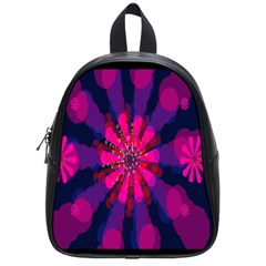 Flower Red Pink Purple Star Sunflower School Bags (Small)