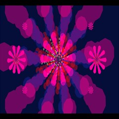 Flower Red Pink Purple Star Sunflower Magic Photo Cubes