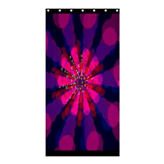 Flower Red Pink Purple Star Sunflower Shower Curtain 36  x 72  (Stall)