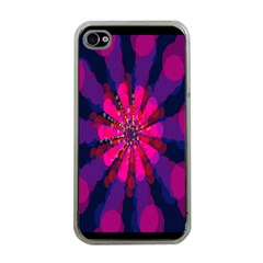 Flower Red Pink Purple Star Sunflower Apple iPhone 4 Case (Clear)