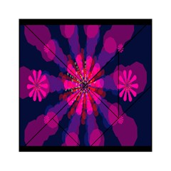 Flower Red Pink Purple Star Sunflower Acrylic Tangram Puzzle (6  x 6 )