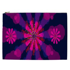Flower Red Pink Purple Star Sunflower Cosmetic Bag (XXL)