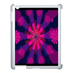 Flower Red Pink Purple Star Sunflower Apple Ipad 3/4 Case (white)