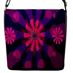 Flower Red Pink Purple Star Sunflower Flap Messenger Bag (S)