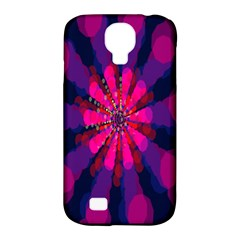 Flower Red Pink Purple Star Sunflower Samsung Galaxy S4 Classic Hardshell Case (PC+Silicone)