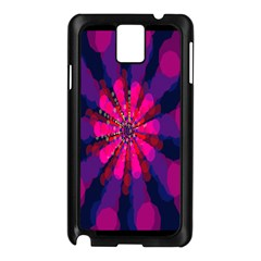 Flower Red Pink Purple Star Sunflower Samsung Galaxy Note 3 N9005 Case (Black)