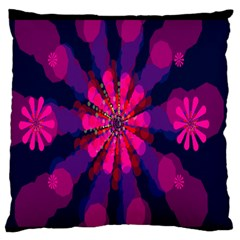 Flower Red Pink Purple Star Sunflower Large Flano Cushion Case (Two Sides)